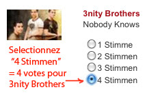 4 stimmen pour 3nity Brothers