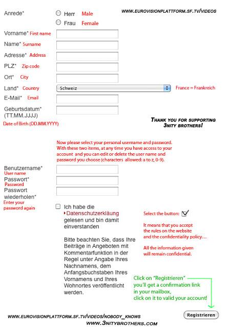 Registration form help